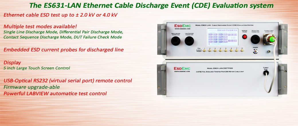 ES631-LAN Ethernet Cable Discharge Event (CDE) Evaluation System