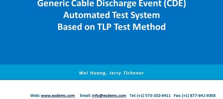 TS002 基于TLP方法的电缆放电事件(CDE)自动化评估系统