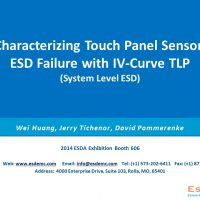 TS003 Characterizing Touch Panel Sensor ESD Failure with IV-Curve TLP